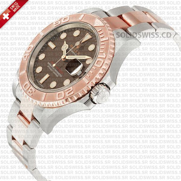 Rolex Yacht-Master Two-Tone Chocolate Dial Replica