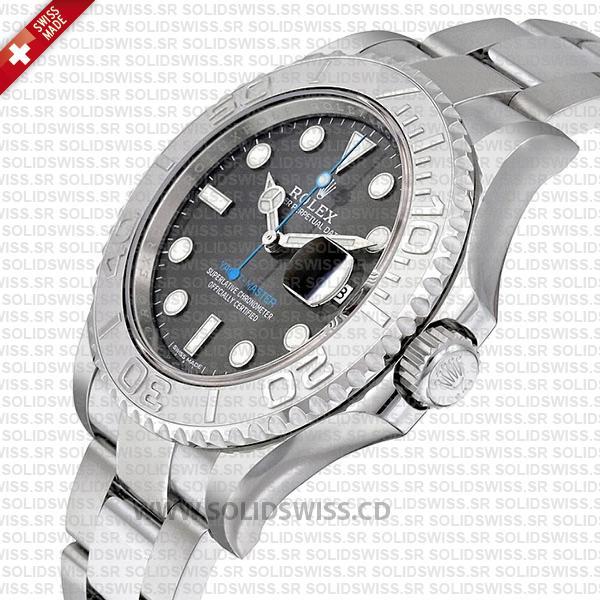 Rolex Yacht-Master 2016 Platinum Rhodium Dial 40mm Watch