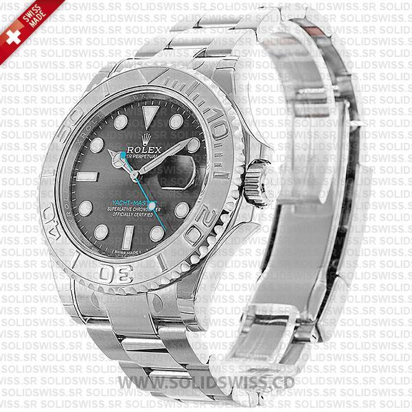Rolex Yacht-Master 2016 Platinum Rolesium Dark Rhodium Dial 40mm Watch