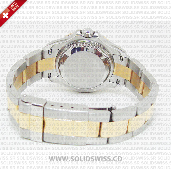 Rolex Oyster Perpetual Yacht-Master Lady 29mm 18k Yellow Gold Blue Dial 904L Steel