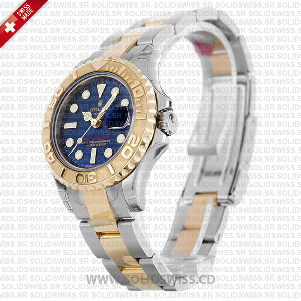 Rolex Yacht-Master Yellow Gold Blue Dial Two-Tone Replica