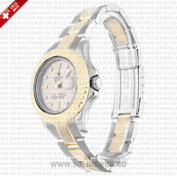 Rolex Yacht-Master 29mm 18k Yellow Gold / Steel 2 Tone Silver Dial