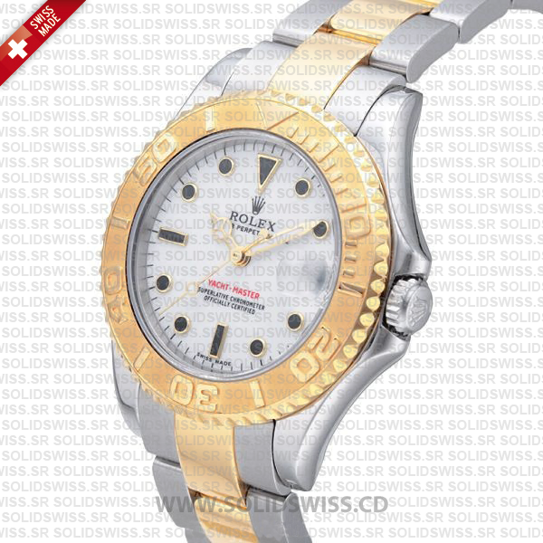 Rolex Yacht-Master Two-Tone Yellow Gold 35mm Replica
