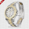 Rolex Yacht-Master 35mm 18k Yellow Gold / Steel 2 Tone White Dial