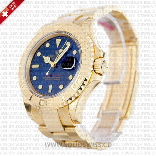 Rolex Yacht-Master 18k Yellow Gold Blue Dial