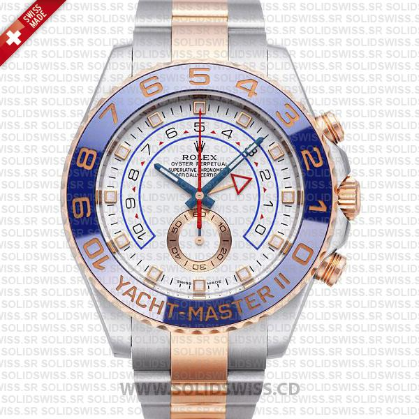 Rolex Yacht-Master II Two-Tone Gold White Dial Swiss Replica