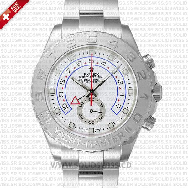 Rolex Yacht-Master II White Gold 40mm Platinum Replica Watch