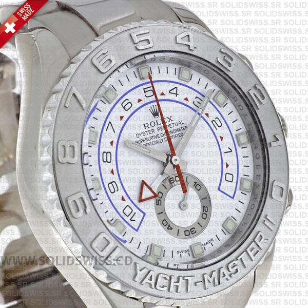 Rolex Yacht-Master II 18k White Gold Stainless Steel White Dial