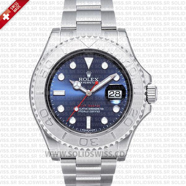 Rolex Yacht-Master Stainless Steel Blue Dial | Swiss Replica