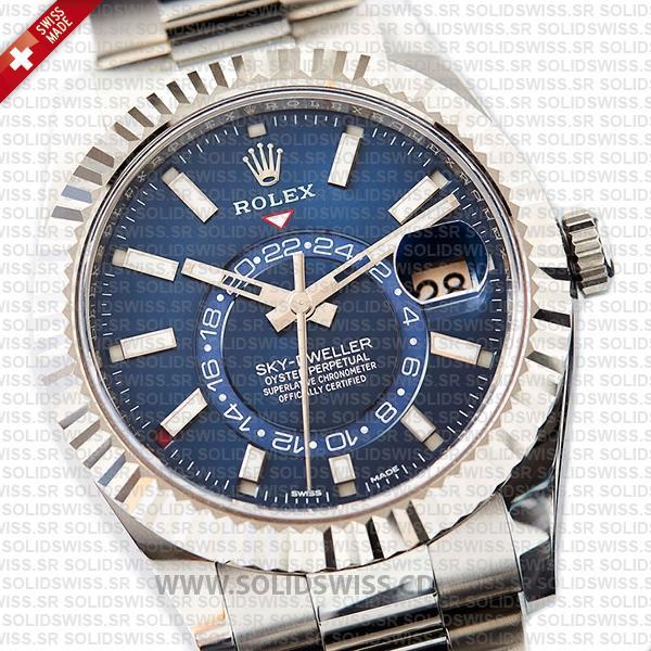 Rolex Sky-Dweller 18k White Gold Blue Dial Watch
