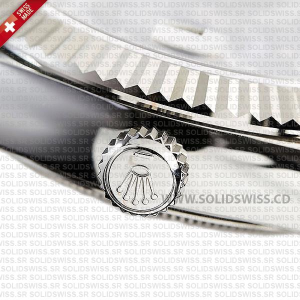 Rolex Sky-Dweller 18k White Gold Blue Dial Oyster Bracelet
