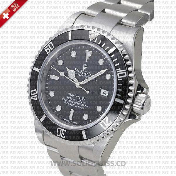 Rolex Sea-Dweller 40mm Date Black Dial Swiss Replica