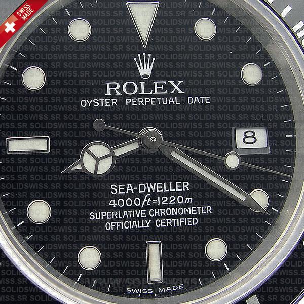 Rolex Sea-Dweller 40mm Date Black Dial Swiss Replica Watch