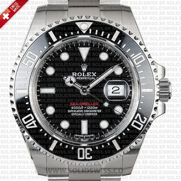 Rolex Sea Deweller 43mm Stainless Steel Black Dial