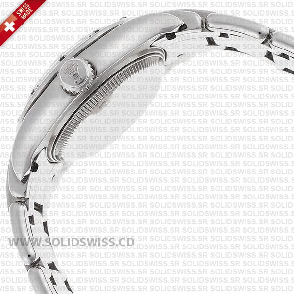 Rolex Datejust Pearlmaster 29mm Diamond White Dial, 18k White Gold 904L Steel Bracelet