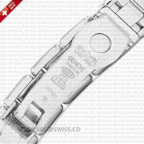 Rolex Lady Datejust Pearlmaster 18k White Gold 904L Steel Diamonds Bracelet