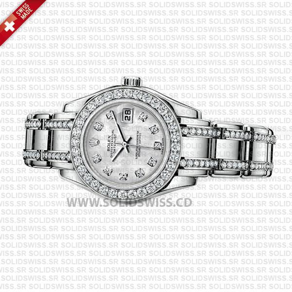 Rolex Datejust Pearlmaster 29mm White Gold Diamonds
