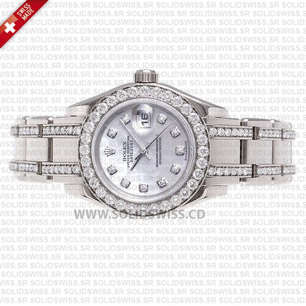 Rolex Pearlmaster White Gold Diamond Bezel