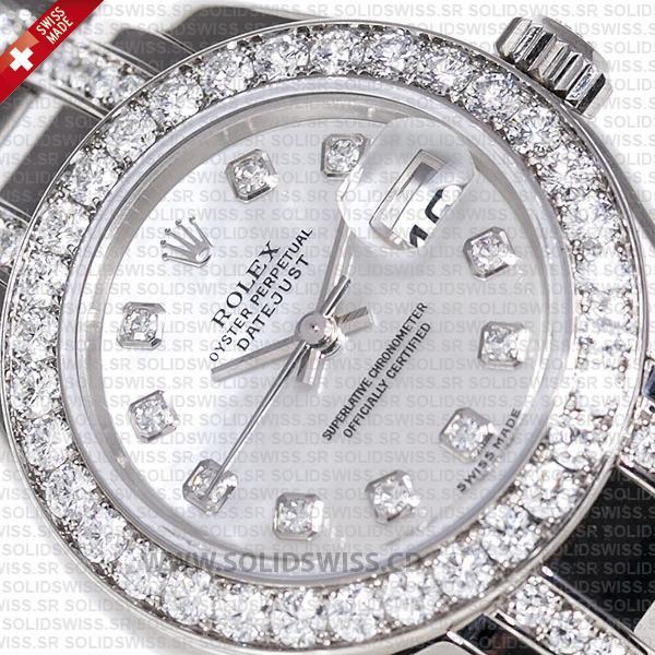 Rolex Pearlmaster White Gold Diamond Bezel 29mm