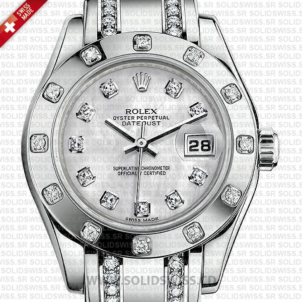 Rolex Lady Datejust Pearlmaster 18k White Gold