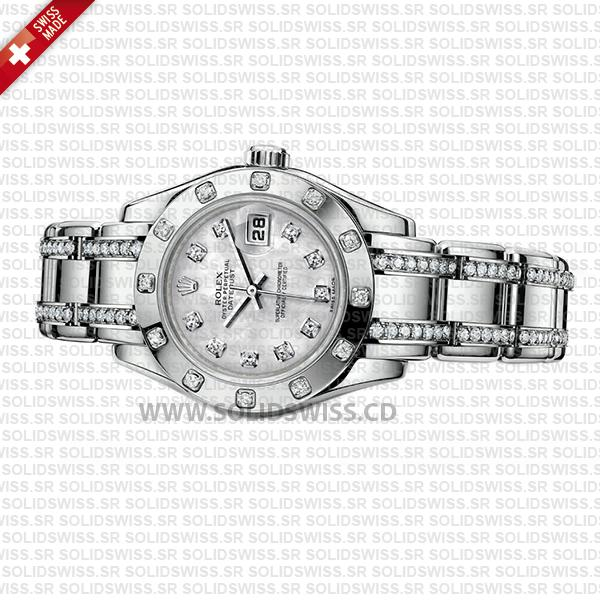 Rolex Lady Datejust Pearlmaster 18k White Gold And Diamonds