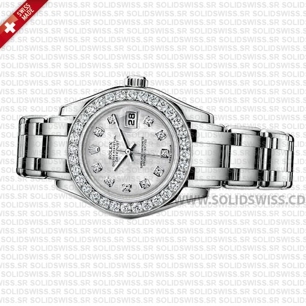 Rolex Datejust Pearlmaster 29mm Diamond White Dial