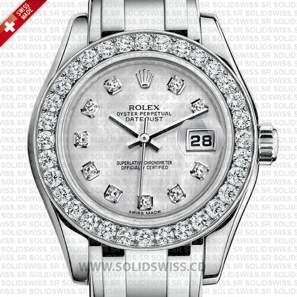 Rolex Datejust Pearlmaster 29mm Diamond White Dial Watch