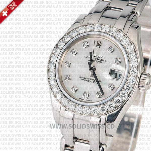 Rolex Lady Datejust Pearlmaster White Gold 29mm Replica Watch