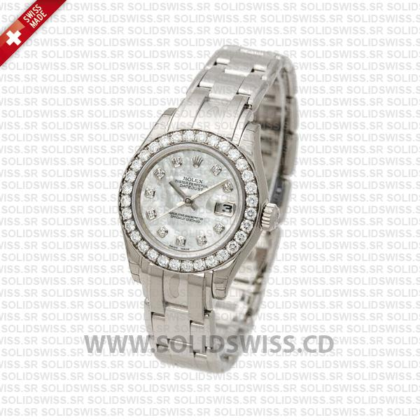 Rolex Lady Datejust Pearlmaster White Gold Replica Watch