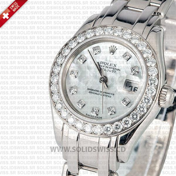 Rolex Lady Datejust Pearlmaster White Gold