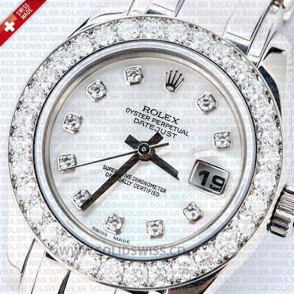 Rolex Lady Datejust Pearlmaster 18k White Gold 29mm