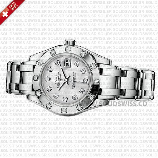 Rolex Lady Datejust Pearlmaster 29mm White Gold Watch