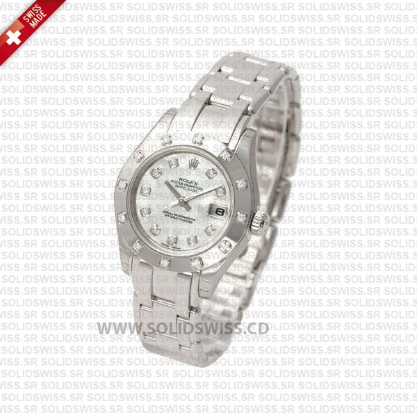 Rolex Datejust Pearlmaster 29mm Diamond Dial   Replica Watch