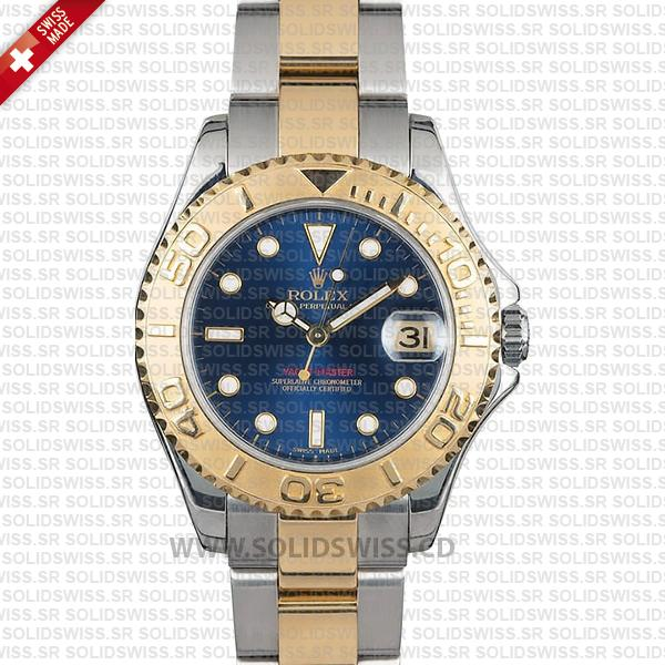 Rolex Yacht-Master Yellow Gold Blue Dial   Two-Tone Watch