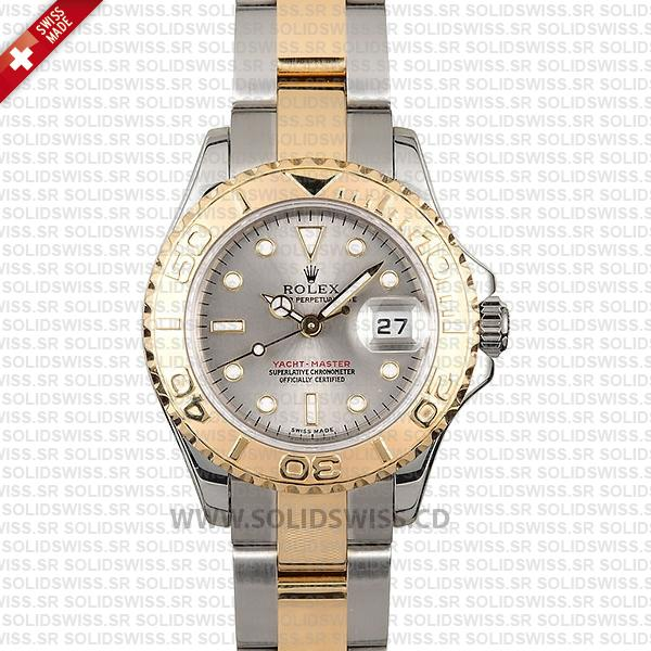 Rolex Yacht-Master 29mm Two-Tone Silver Dial Swiss Replica