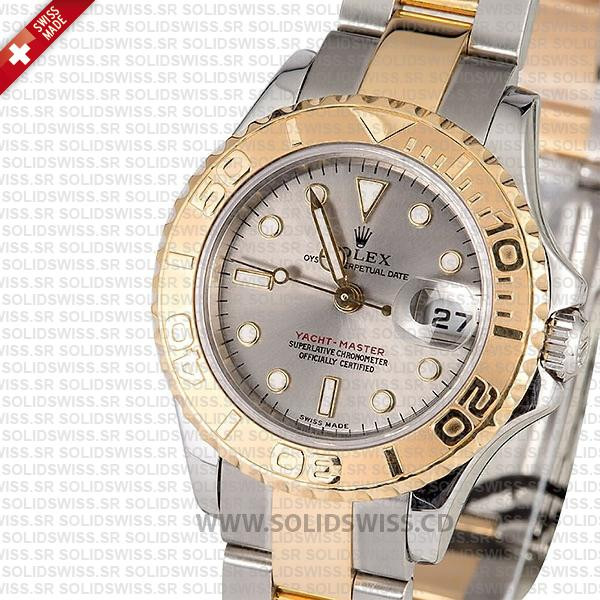 Rolex Yacht-Master 29mm Two-Tone Silver Dial Replica