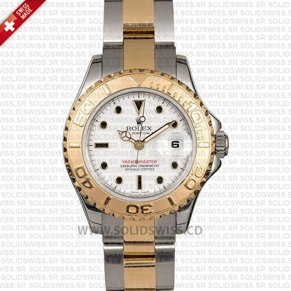 Rolex Yacht-Master 29mm 18k Yellow Gold / Steel 2 Tone White Dial