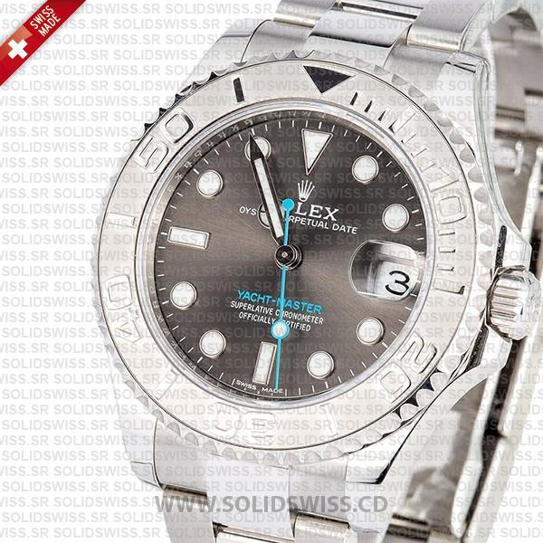 Rolex Yacht-Master Platinum Bezel Rhodium Dial 37mm Replica Watch