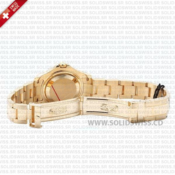 Rolex Yacht-Master Lady 18k Yellow Gold White Dial with Gold Bezel