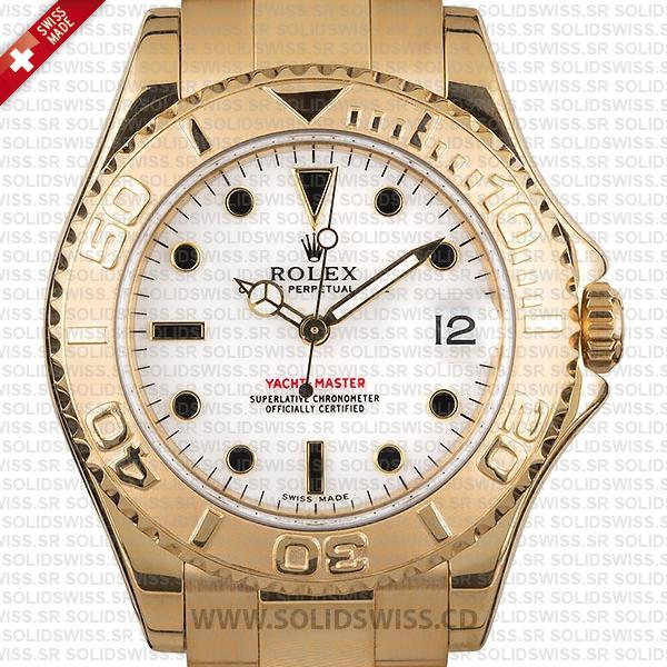 Rolex Yacht-Master 35mm 18k Yellow Gold Replica Watch