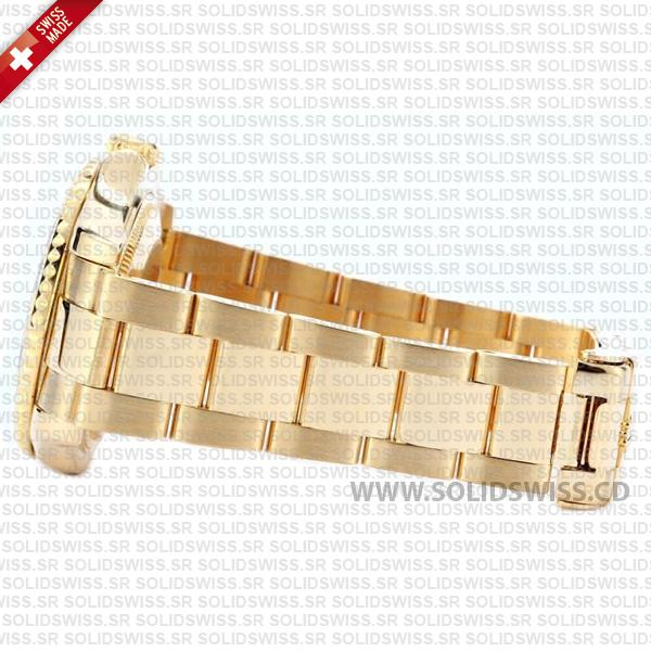 Rolex Yacht-Master 35mm 18k Yellow Gold White Dial Oyster Bracelet