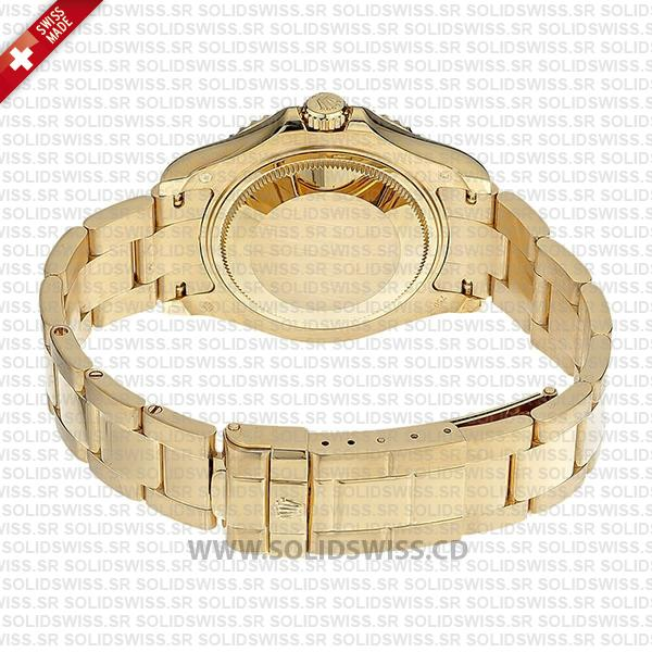 Rolex Yacht-Master Lady 18k Yellow Gold White Dial with Gold Bezel 904L Steel Oyster Bracelet