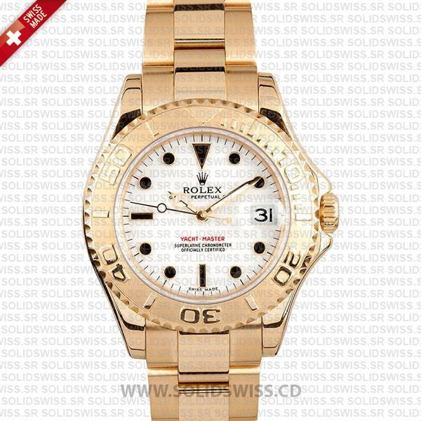 Rolex Yacht-Master 35mm 18k Yellow Gold Swiss Replica Watch