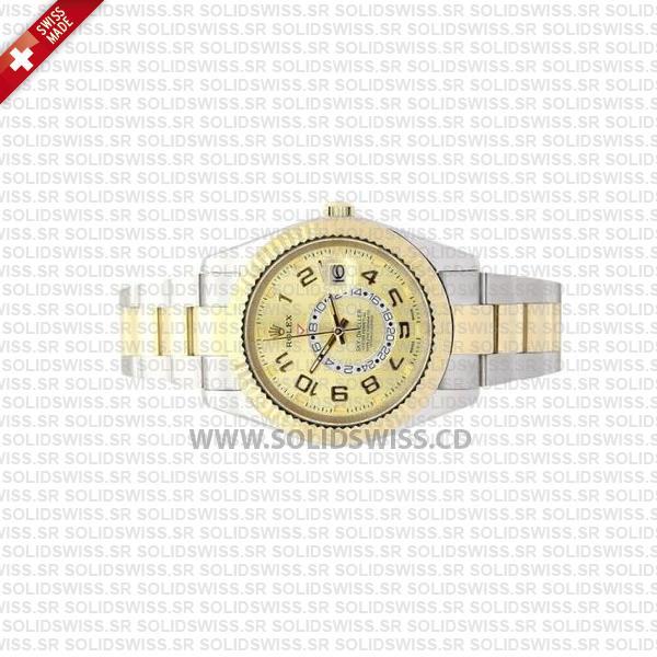 Rolex Sky-Dweller Arabic Dial Two-Tone Gold Watch