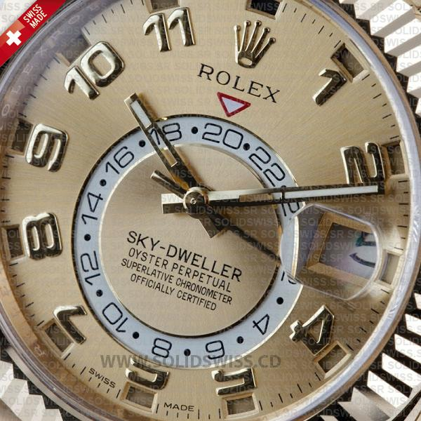 Rolex Sky-Dweller Arabic Dial Two-Tone Gold