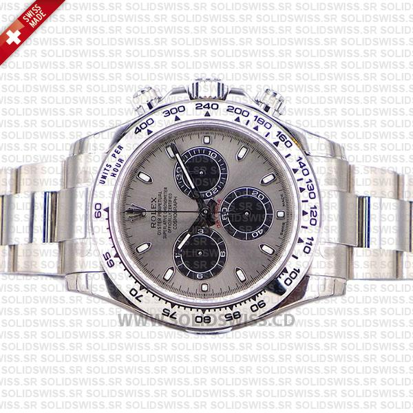 Rolex Oyster Perpetual Cosmograph Daytona 18k White Gold