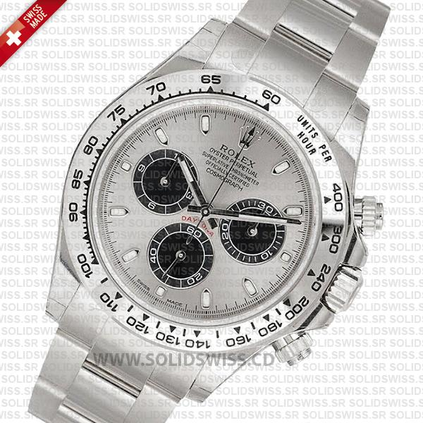 Rolex Daytona 18K White Gold Steel Dial