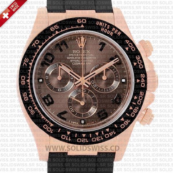Rolex Cosmograph Daytona 18k Rose Gold Replica Watch