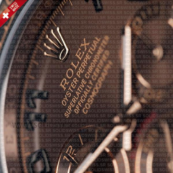 Rolex Cosmograph Daytona 904L Stainless Steel Chocolate Arabic Dial