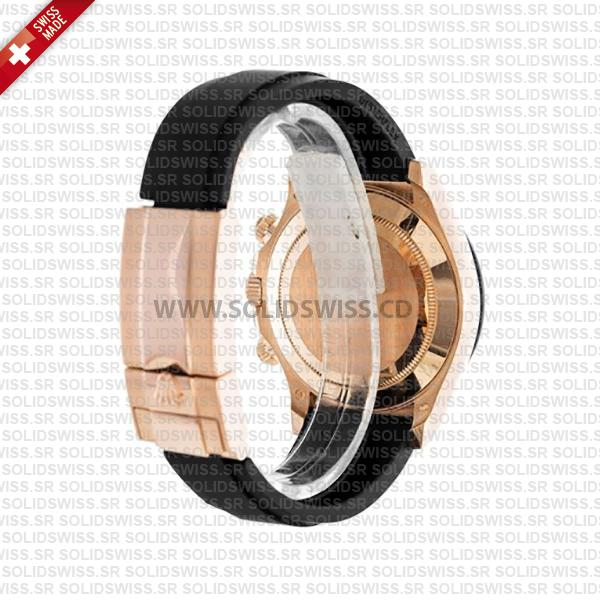 Rolex Cosmograph Daytona Rose Gold Rubber Band Bracelet 40mm